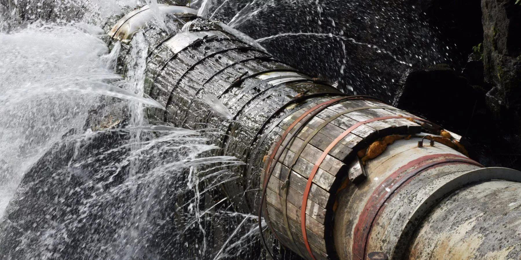 Картинки прорыв водопровода