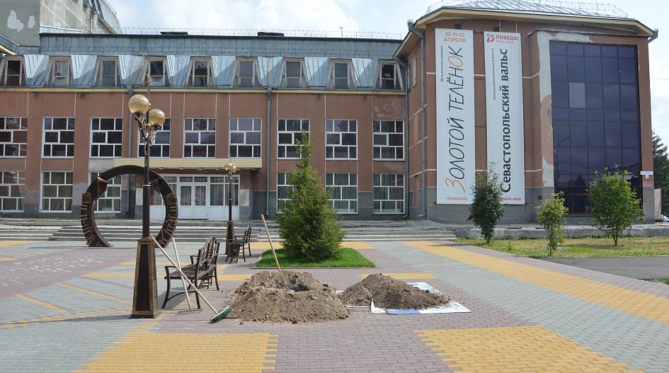 В Барнауле делают зеленый уголок, где среди 15 берез можно спрятаться от солнца
