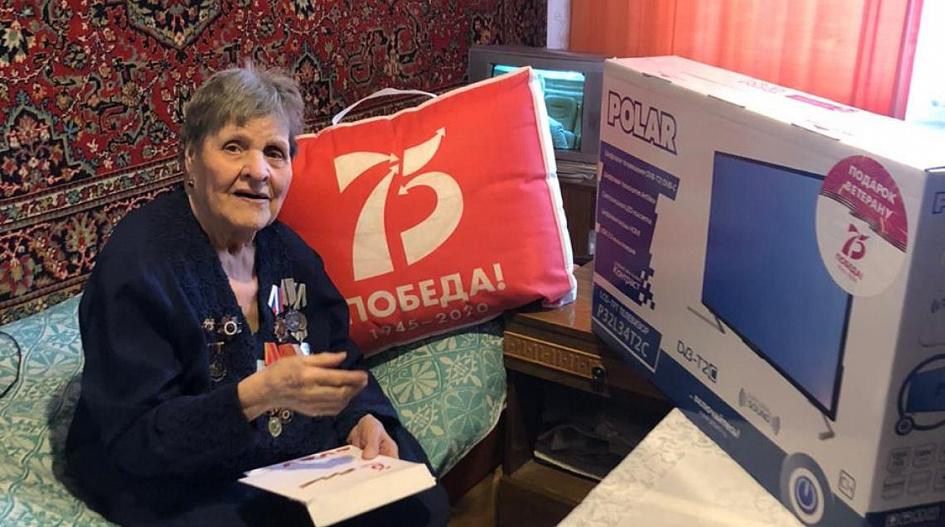 В Барнауле вручают подарки ветеранам Великой Отечественной войны
